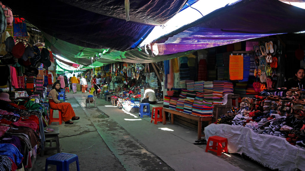 The Mandalay Bazaar of Kalay