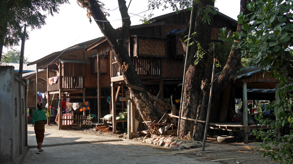 Beautiful traditional houses in Kalay