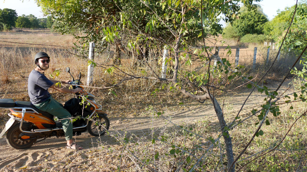 Cruising around on Bagan's dusty roads