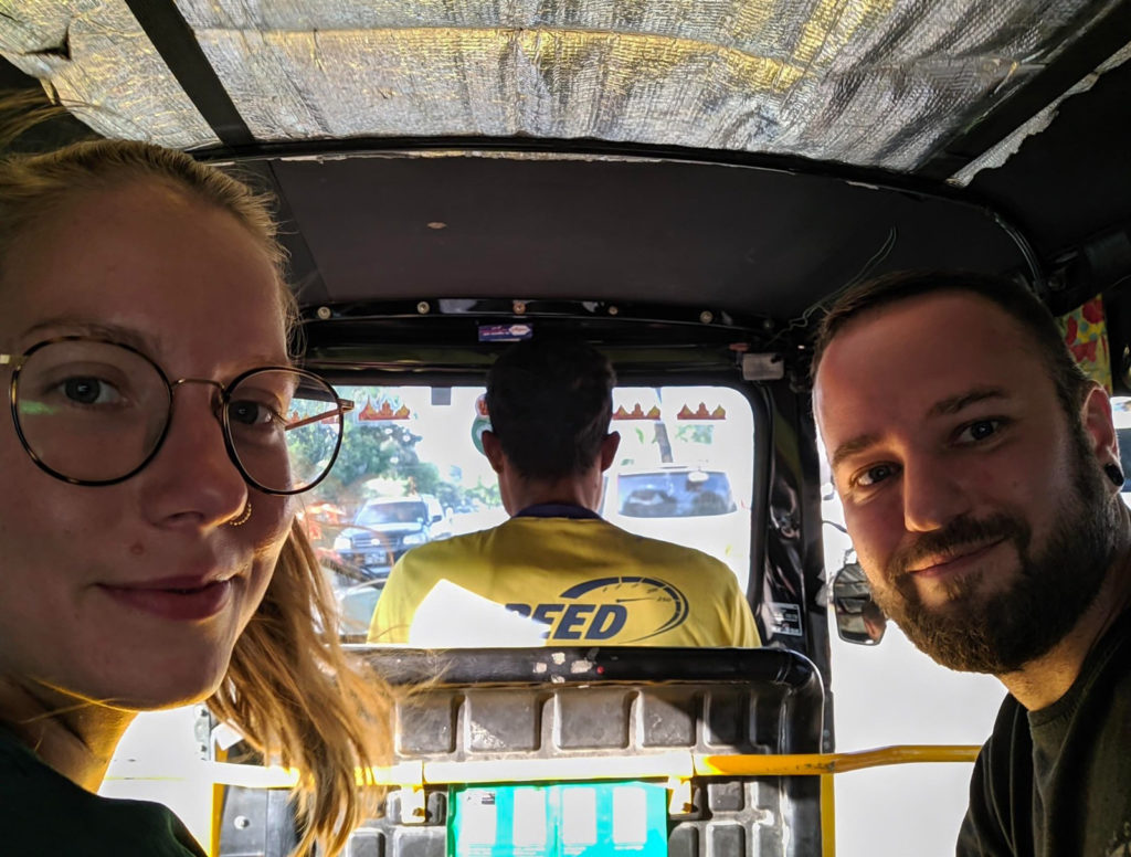 Tuctuc was a good vehicle to get around the city. We used Grab app to order tuctucs – it's really practical and that way you also don't have to negotiate about the price