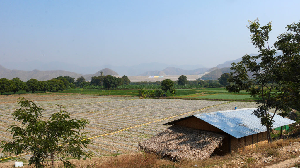 Fields and mountains