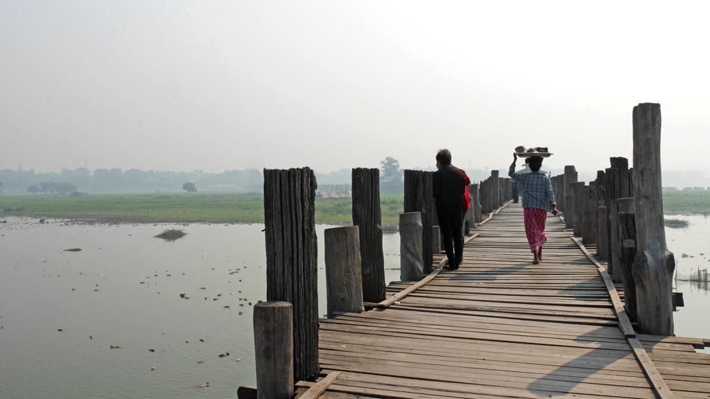 At the U Bein Bridge
