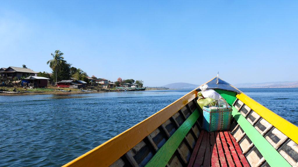 Boat trip at the Pekon Lake