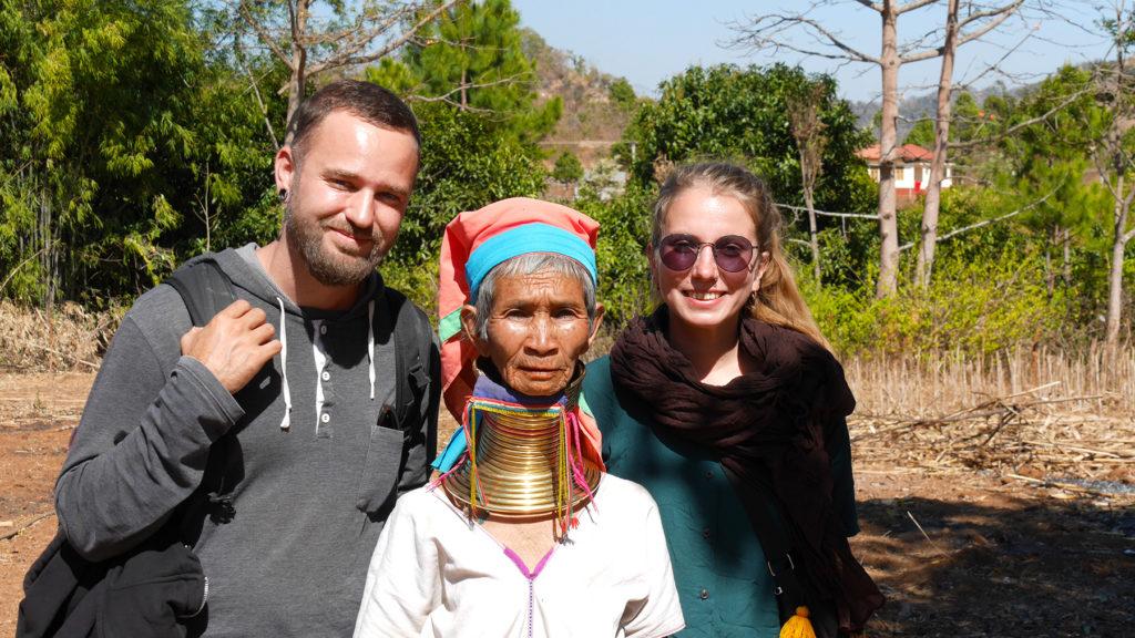 Visiting Mrs. Bou in her village