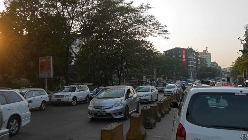 Yangon traffic