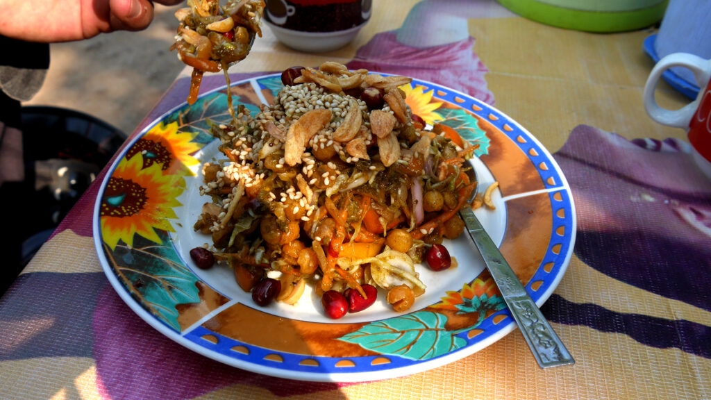 Burmese salads are crunchy and amazing. Especially this one!
